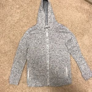 Boys XL full zip hoodie gray sweater / sweatshirt